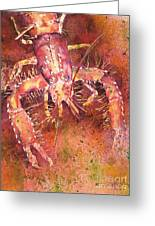 Hawaiian Lobster Greeting Card