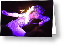 Hawaiian Luau Fire Eater 2 Greeting Card