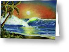 Hawaiian Moon #399 Greeting Card