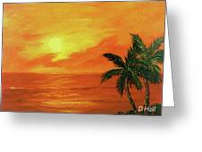 Hawaiian Sunset #27 Greeting Card