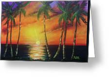 Hawaiian Sunset  #329 Greeting Card