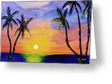 Hawaiian Sunset #36 Greeting Card