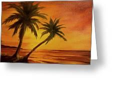 Hawaiian Sunset #380 Greeting Card