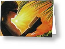Hawaiian Sunset Catching The Last Rays #132 Greeting Card