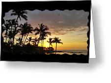 Hawaiian Sunset Design Greeting Card