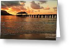 Hawaiian Sunset Hanalei Bay 1 Greeting Card