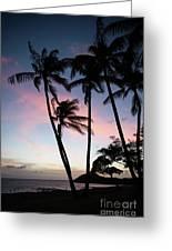 Hawaiian Sunset On Molokai  Greeting Card