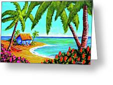 Hawaiian Tropical Beach  #364 Greeting Card