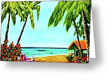 Hawaiian Tropical Beach #367  Greeting Card