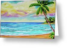 Hawaiian Tropical Beach #408 Greeting Card