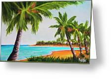 Hawaiian Tropical Beach #429 Greeting Card