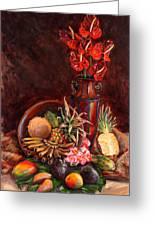 Hawaiian Tropical Fruit Still Life Greeting Card