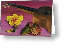Hawaiian Ukulele Greeting Card