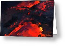 Hawaiian Volcano Lava Flow Greeting Card