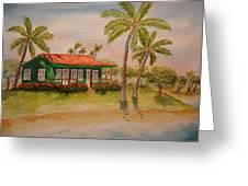 Hawaiin Cottage Greeting Card