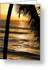 Hawaiin Sunset Greeting Card