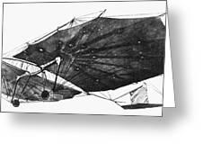 Hawk Glider, 1896 Greeting Card