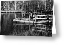 Hawk Island Michigan Dock  Greeting Card