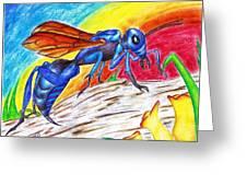 Hawk Wasp Greeting Card
