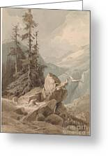 Hawks On A Mountain Greeting Card