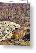 Hawksbill Crag In Autumn Greeting Card