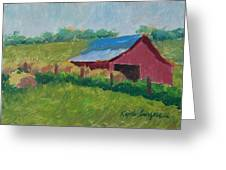 Hay Bales In Morning Light Greeting Card