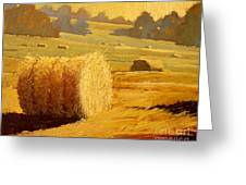 Hay Bales Of Bordeaux Greeting Card