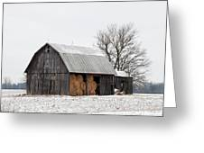 Hay Barn Greeting Card
