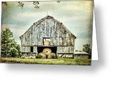 Hay Barn Rural Landscape Scenery Greeting Card