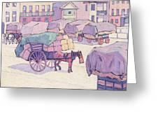 Hay Carts - Cumberland Market Greeting Card
