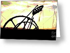 Hay Cutter Silhouette Greeting Card