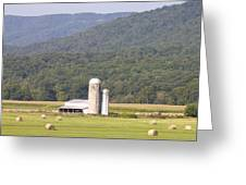 Hay Farm In The Country Greeting Card by Danielle Allard