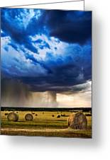 Hay In The Storm Greeting Card