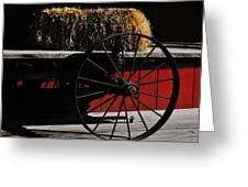 Hay On Wheels Greeting Card