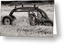 Hay Rake Greeting Card