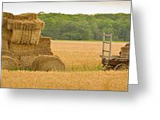 Hay Tractor Greeting Card