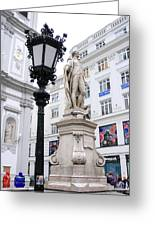Haydn On Vienna Street Corner Greeting Card