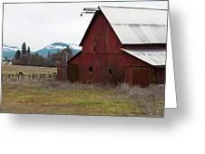 Hayfork Red Barn Greeting Card