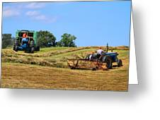 Haying The Field 1 Greeting Card