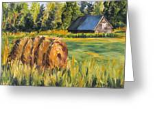 Hayroll And Barn Greeting Card