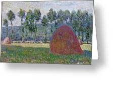 Haystack At Giverny, 1885 Greeting Card