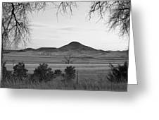Haystack Mountain - Boulder County Colorado - Black And White Ev Greeting Card