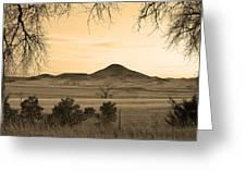 Haystack Mountain - Boulder County Colorado - Sepia Evening Greeting Card