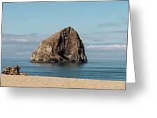 Haystack Rock - Pacific City Oregon Coast Greeting Card