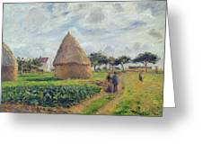 Haystacks Greeting Card by Camille Pissarro