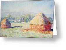 Haystacks In The Sun Greeting Card