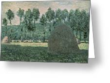 Haystacks Near Giverny Greeting Card