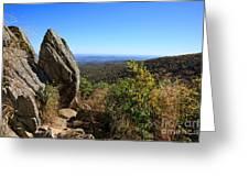 Hazel Mountain Overlook On Skyline Drive In Shenandoah National Park Greeting Card