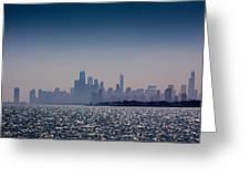 Hazy Chicago Greeting Card