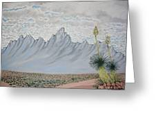 Hazy Desert Day Greeting Card